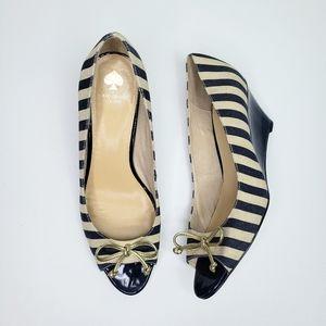 KATE SPADE NWOT Melinda Peep Toe Wedge Heel Shoes